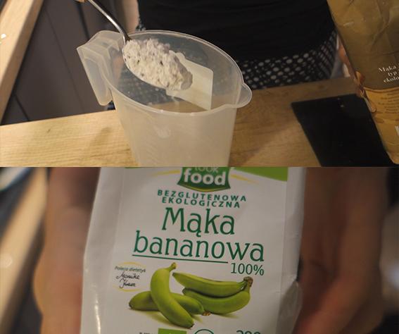 mycie włosów mąką bananową