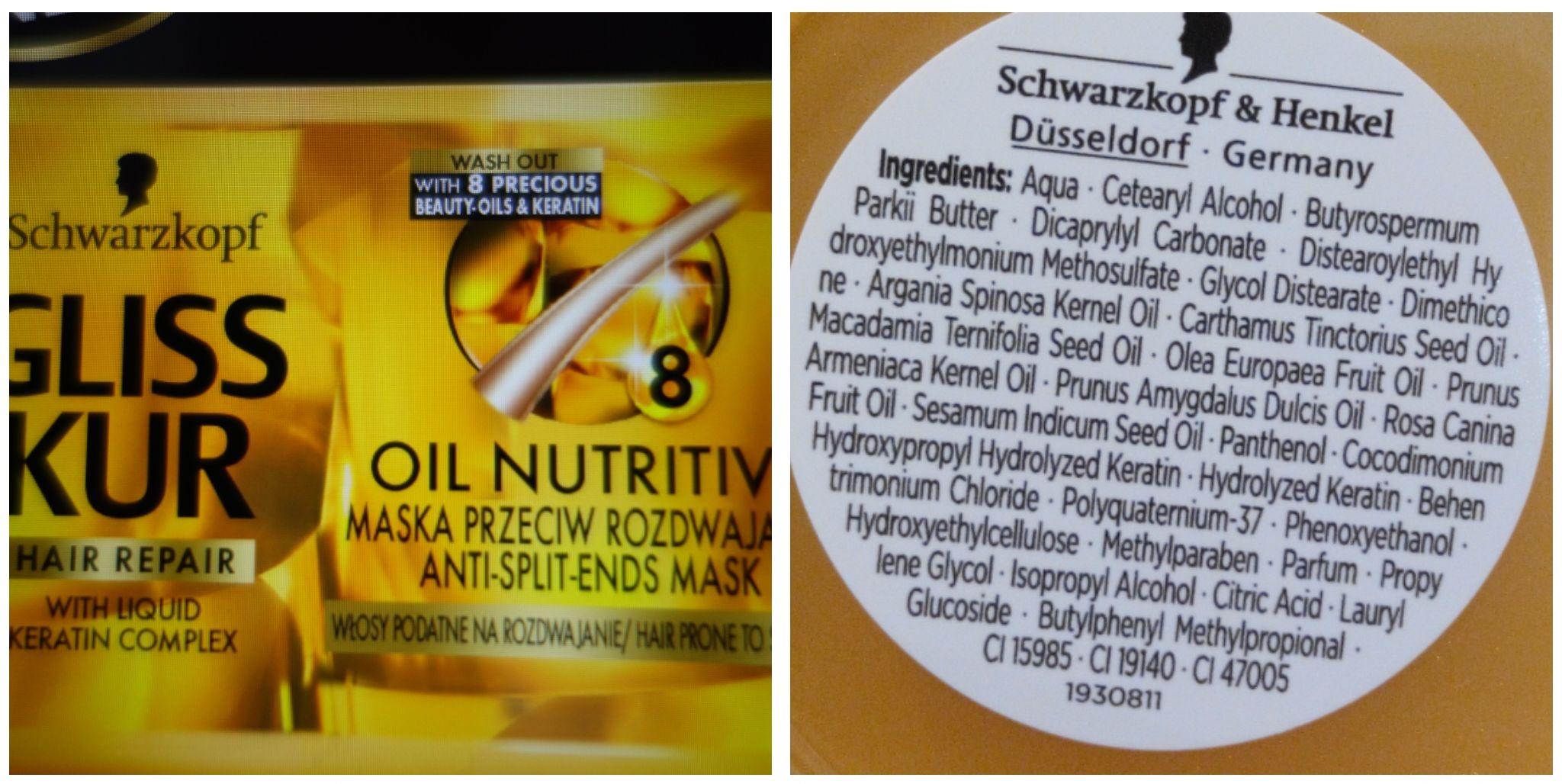 maska gliss kur oil nutritive nowa wersja