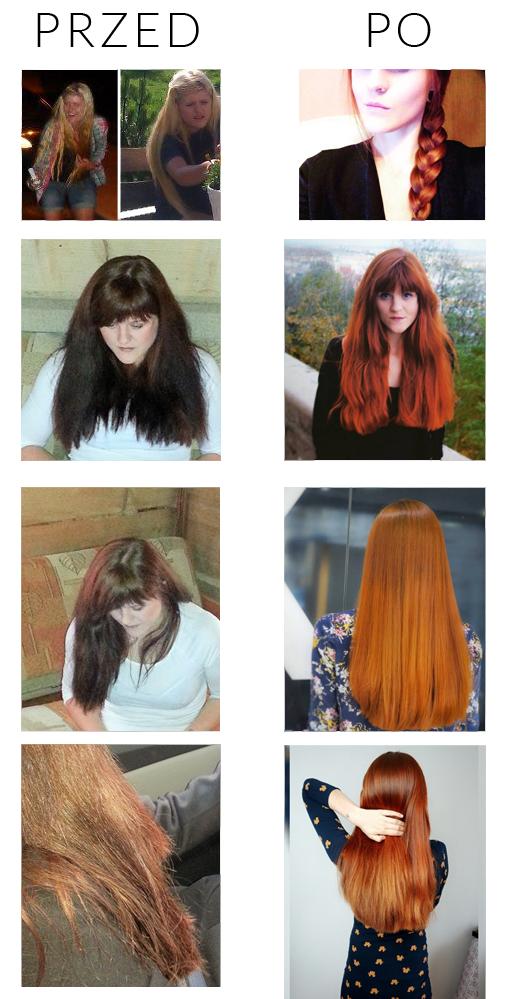spalone włosy
