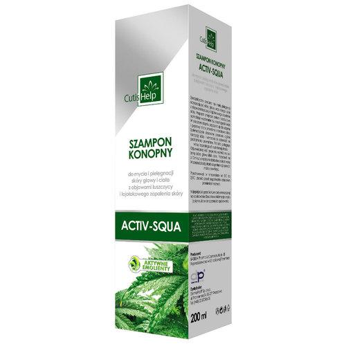 CutisHelp ACTIV-SQUA Szampon konopny przeciw łuszczycy