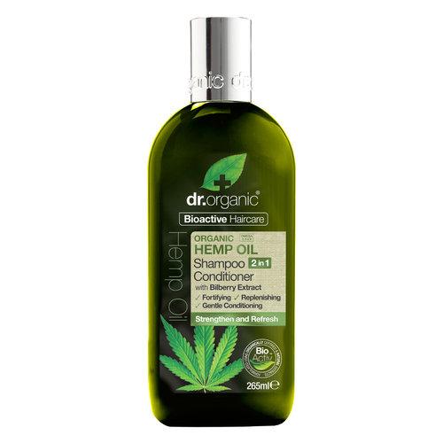Dr Organic Hemp Oil, szampon z odżywką, 2w1
