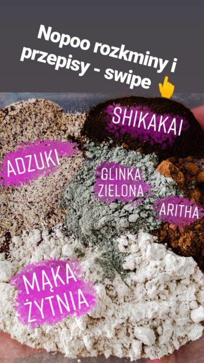 Przepisy nopoo i mycie mąką, ziołami i glinkami 💦
