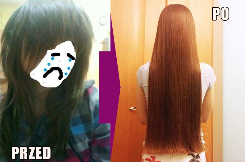 Tafla na włosach