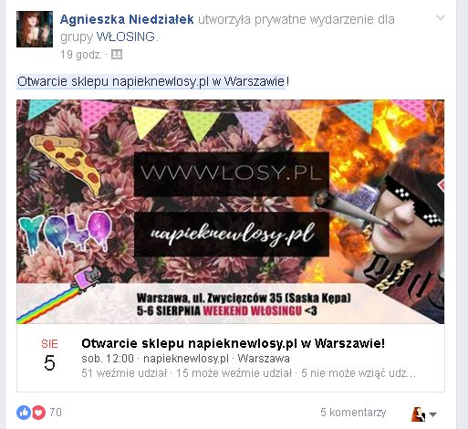 otwarcie sklepu napieknewlosy.pl